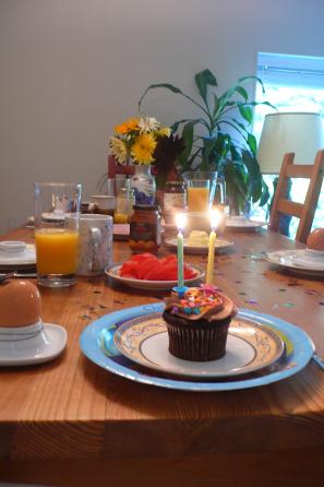 Chiaras Geburtstagsfrühstück